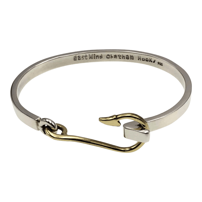 the Chatham Hook Bracelet, sterling with brass hook