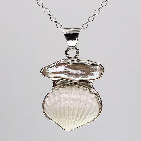 pearl & shell pendant