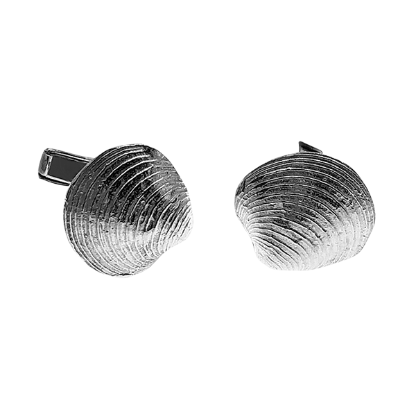 clam shell cuff links