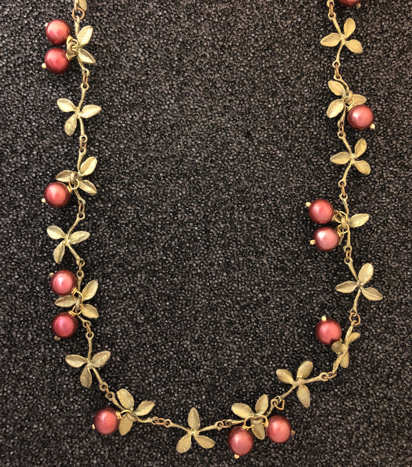 cranberry necklace by Michael Michaud for Silver Seasons