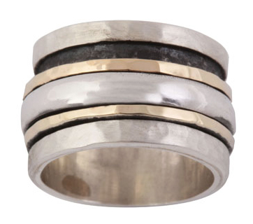 gold and silver spinner ring by Ithil-3170