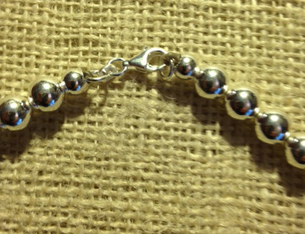 8mm sterling bead necklace