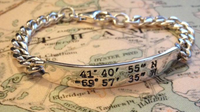 LANDMARK COORDINATES ™ sterling silver ID bracelet