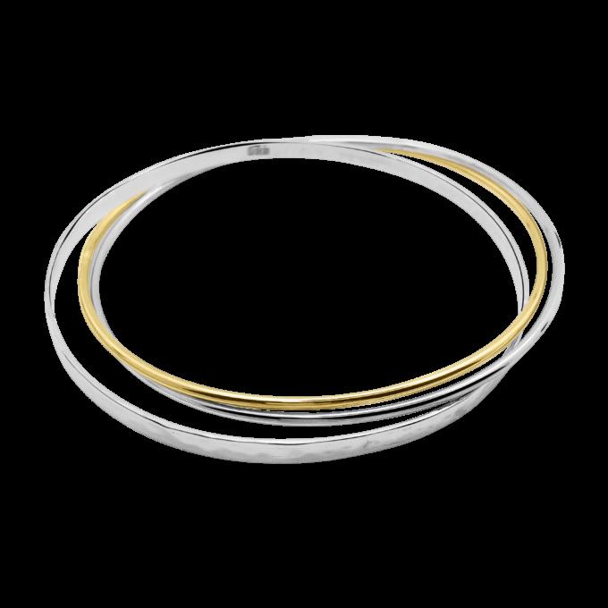 Triple bangle with round tumbaga