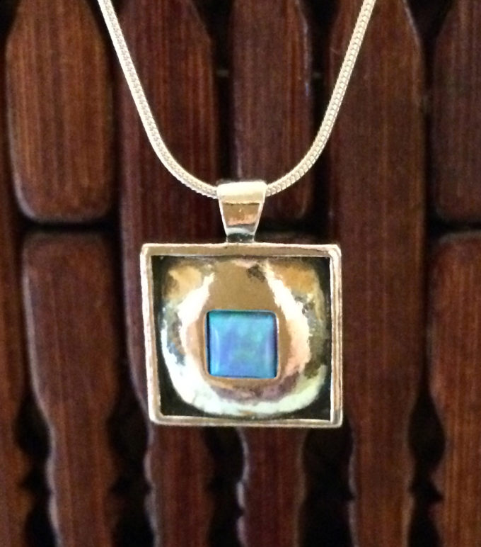 opal in square sterling necklace by Tamir Zuman-0