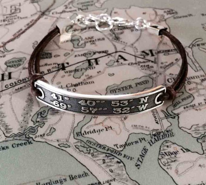 LANDMARK COORDINATES™ raised font style bracelet-0