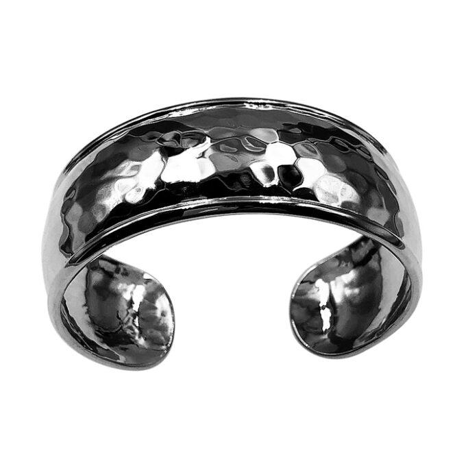 domed silver cuff