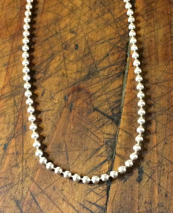 3mm wide-spaced sterling beads
