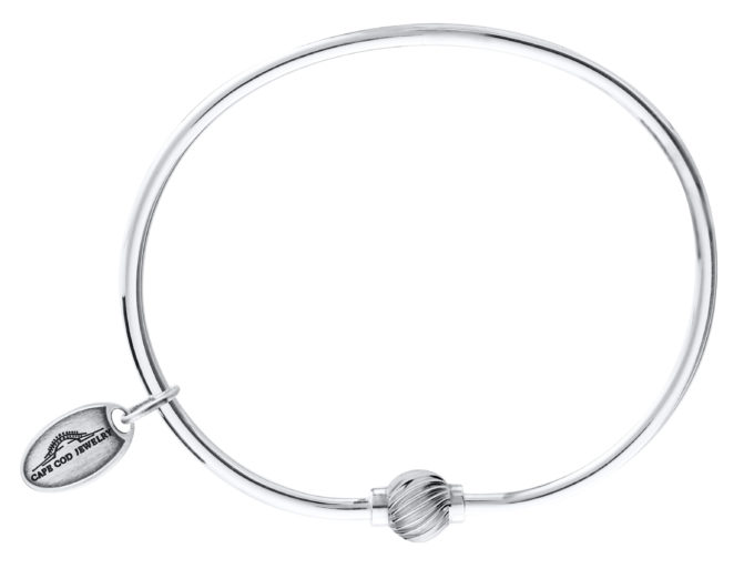 The Cape Cod Jewelry ™ swirl bead sterling silver bracelet