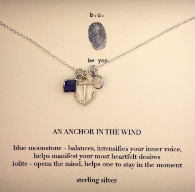 """An Anchor in the Wind"" necklace by b.u."