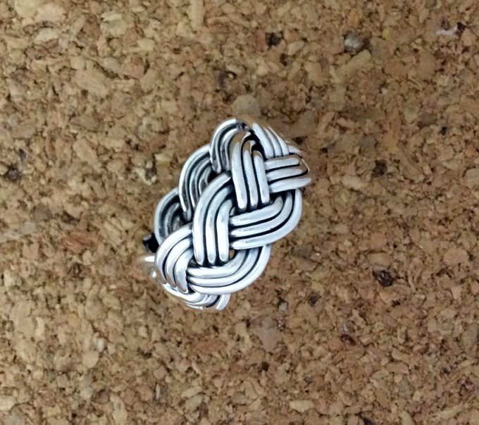 3-strand woven sterling ring