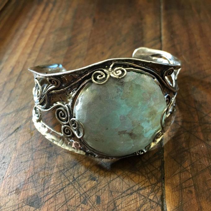 Roman Glass cuff by Tamir Zuman