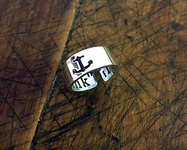 """""""I refuse to sink"""" anchor ring"""