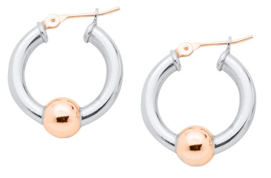 Cape Cod Jewelry™ earrings, sterling & 14kt rose gold, small