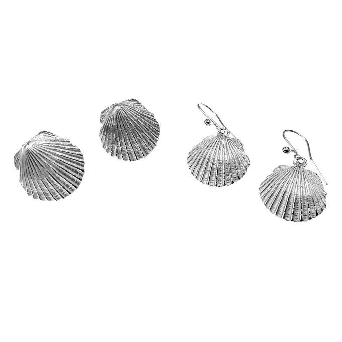scallop shell earrings