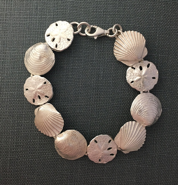 3 out of 4 shell sterling bracelet