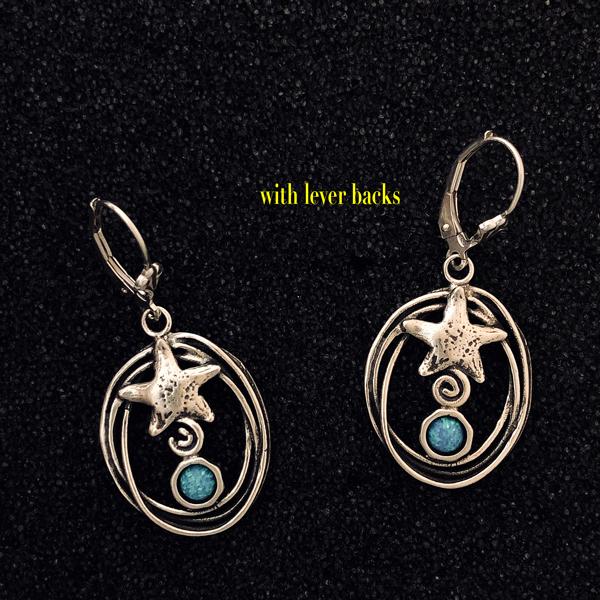 Under the Sea earrings by Zuman Jewelry (lever backs)