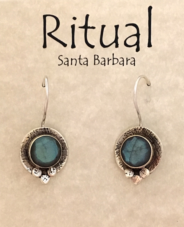 labradorite in sterling circles by Ritual