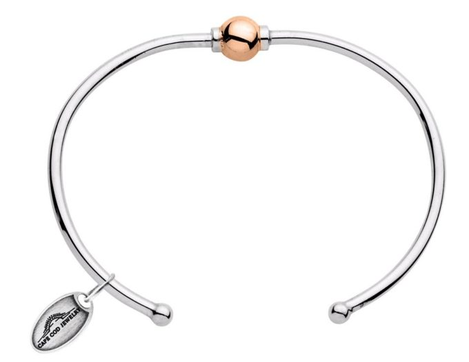 The Cape Cod Bracelet® cuff with 14kt rose gold