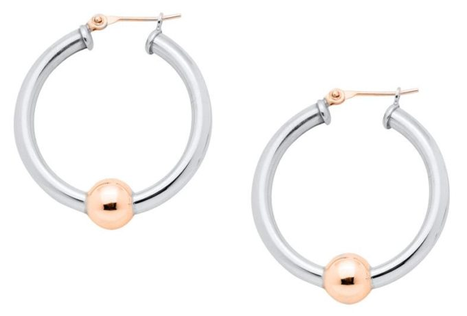 The Cape Cod Jewelry ™ earrings,large, sterling & 14kt rose gold