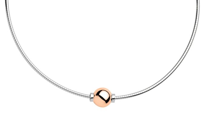 The Cape Cod Jewelry ™ Necklace, sterling & 14kt rose gold