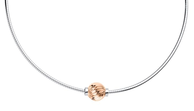 The Cape Cod Jewelry ™ Necklace with 14kt rose gold swirl bead