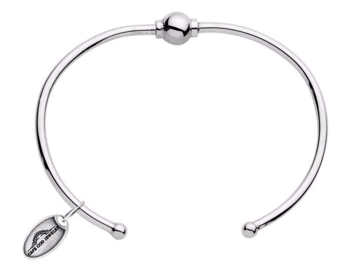 The Cape Cod Bracelet® cuff all sterling silver