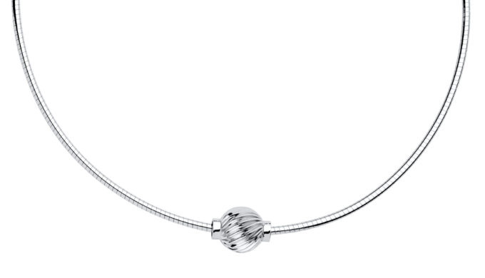 The Cape Cod Jewelry ™ Necklace with sterling silver swirl bead