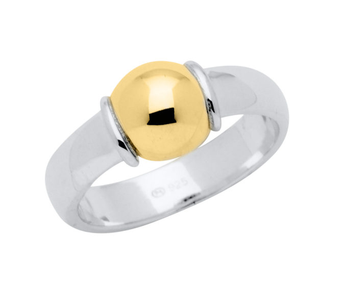 The Cape Cod Jewelry ™ ring, sterling & yellow gold