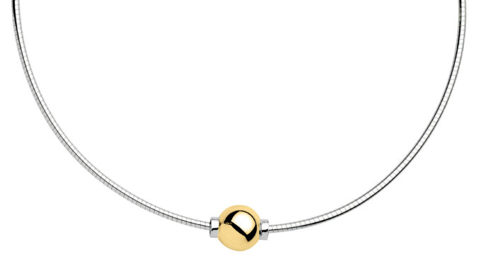The Cape Cod Jewelry ™ Necklace, sterling & 14kt yellow gold