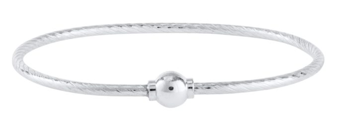 The Cape Cod patterned bracelet® all silver