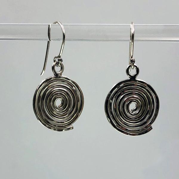 Hammered Circle Swirl earrings