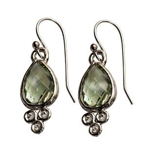 green amethyst earrings by Ithil