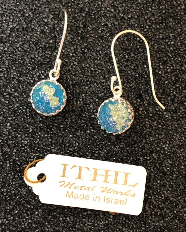 Roman Glass circles earrings from Ithil