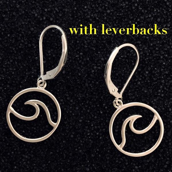 Cape Wave ™ earrings by Cape Wave ™ Jewelry (leverbacks)