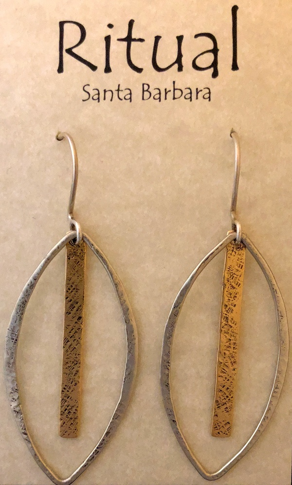 long oval earrings by Ritual Jewelry