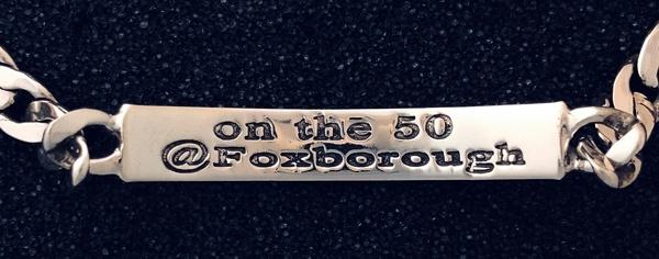 """""""On the 50"""" sterling bracelet"""
