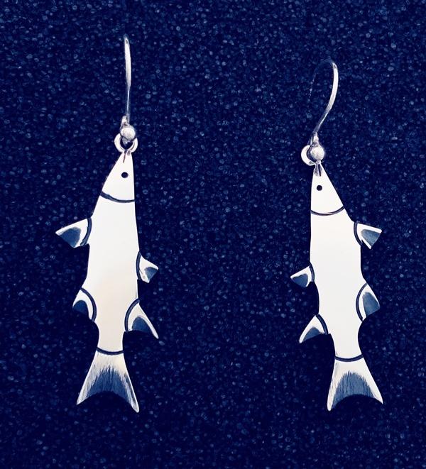 Cape Shark sterling earrings