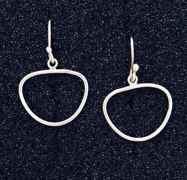 Flattened Oval Earring