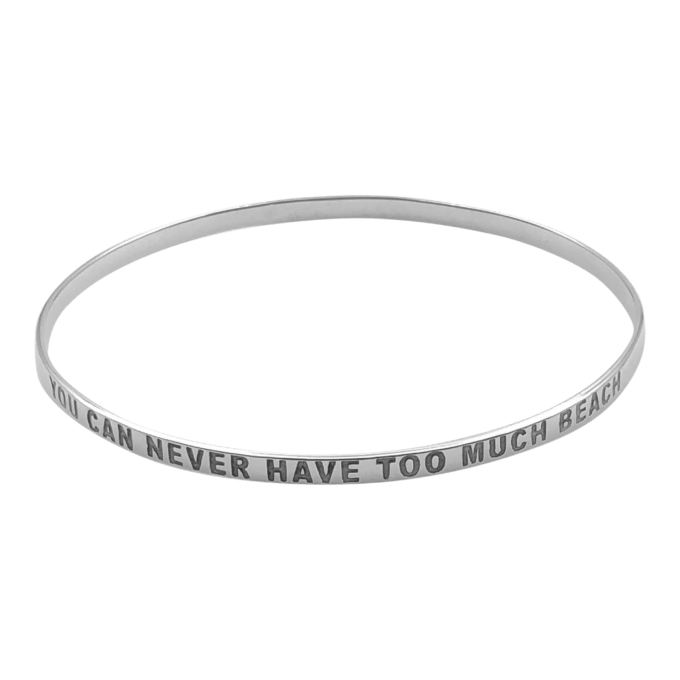 """""""You Can Never Have Too Much Beach"""" Bangle Bracelet by seabangles ™"""