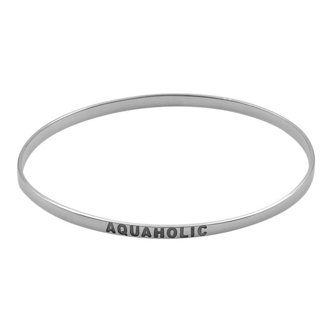 Aquaholic Bangle Bracelet by seabangles ™