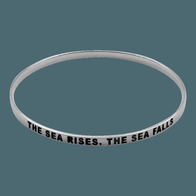 """The Sea Rises, The Sea Falls"" Bangle Bracelet by seabangles ™"