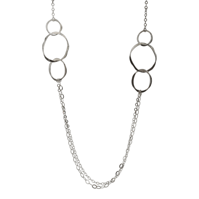 Triple Ovals Sterling Necklace