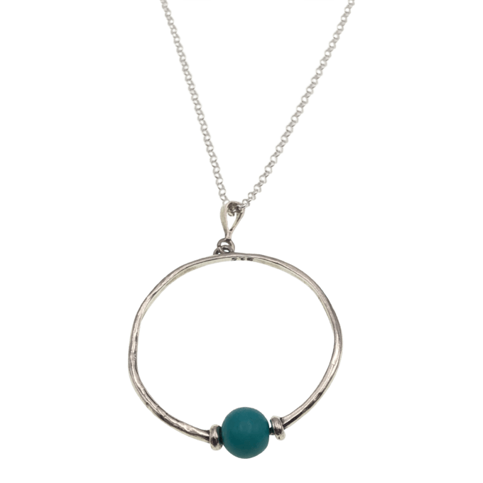 sterling pendant with turquoise bead