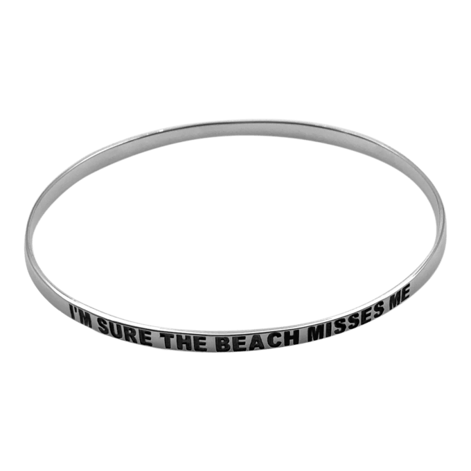 """I'm Sure The Beach Misses Me"" Bangle Bracelet by seabangles ™"