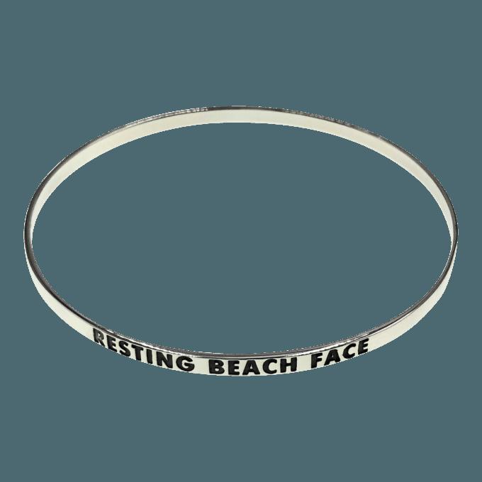 resting beach face bangle