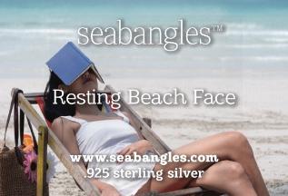 Resting Beach Face romance card