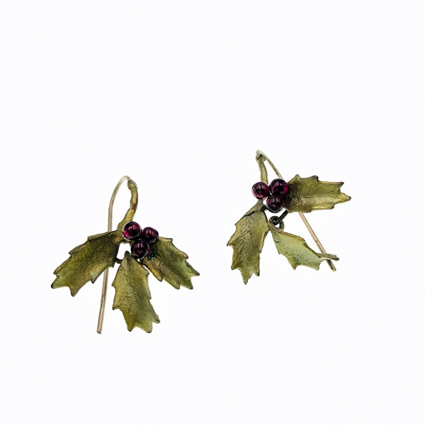 holly earrings by Michael Michaud
