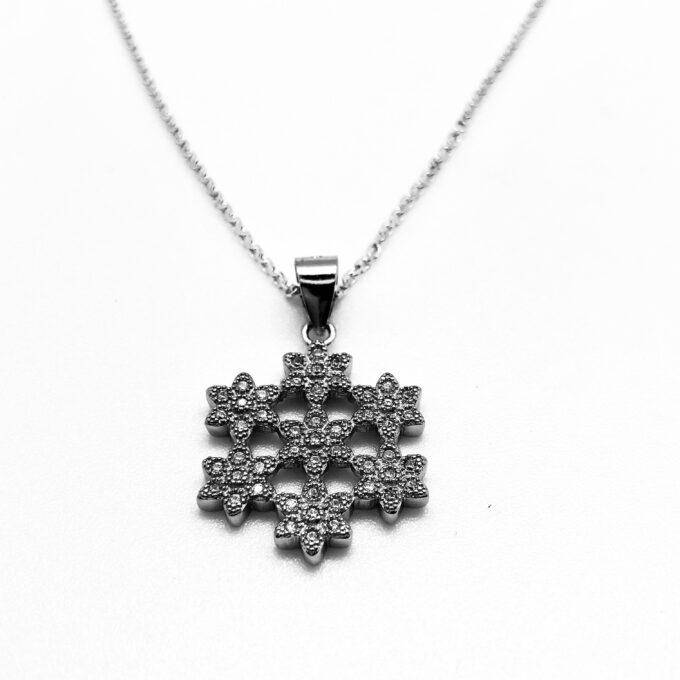 Snowflake cz necklace