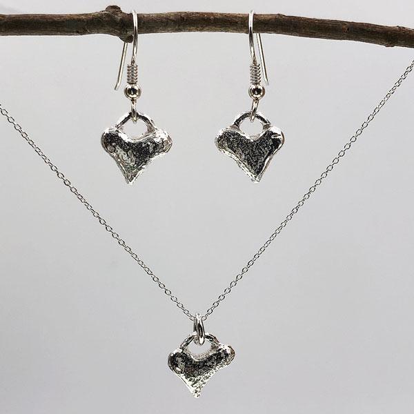 Simple Heart Sterling Earrings